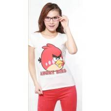 Short Sleeve Cotton Printed T-Shirt (C9: Angry Birdy)