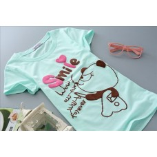 Short Sleeve Cotton Slim Cotton T-Shirt (E16: Cute Panda) - 4 Colours