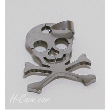 Fashion Necklace - Stainless Steel Skull Pendant (TN0012) - with Free Rope
