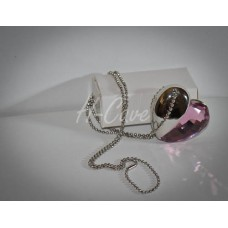 Heart Shape Crystal Necklace USB flash drive - 4GB / 8GB (with Free Chain)