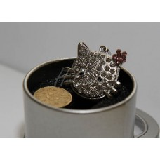 Cute Silver Diamond Kitty Cat USB flash drive - 4GB / 8GB