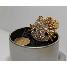 Cute Diamond Kitty Cat USB flash drive - 4GB / 8GB (Gold Colour)