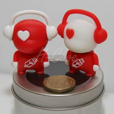 Cute 3D Robot with Headphone USB flash drive - 8GB